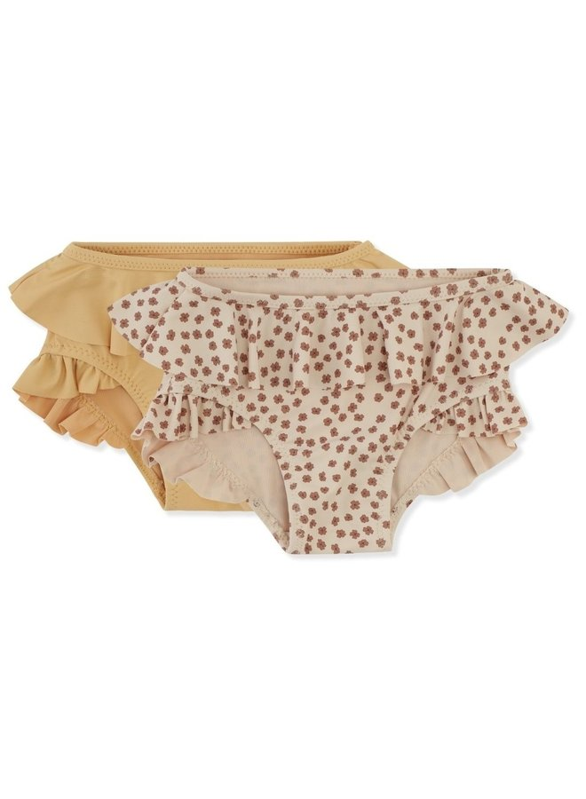 Konges Sløjd - 2-pack Bikini Pants - Buttercup Rose/Orange Sorbet