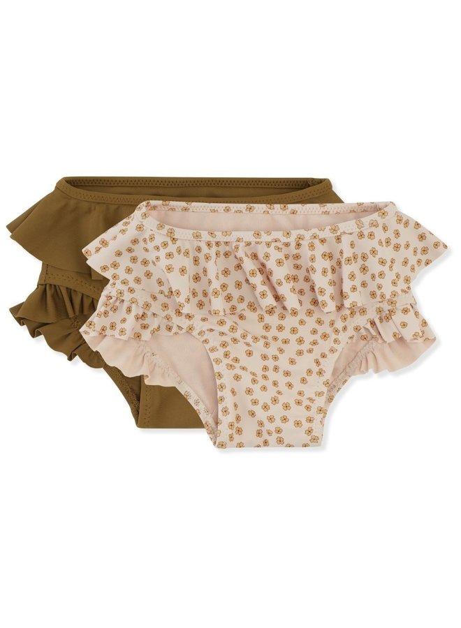 Konges Sløjd 2-pack Bikini Pants - Buttercup Yellow/Breen
