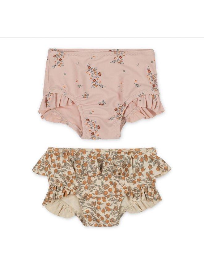 Konges Sløjd 2-pack Bikini Pants - Nostalgie Blush/Orangery Beige