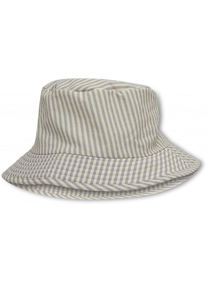 Konges Sløjd Aster Bucket Hat - Light Blue Stripe