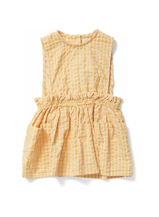 Acacia Spencer Dress - Yellow Check