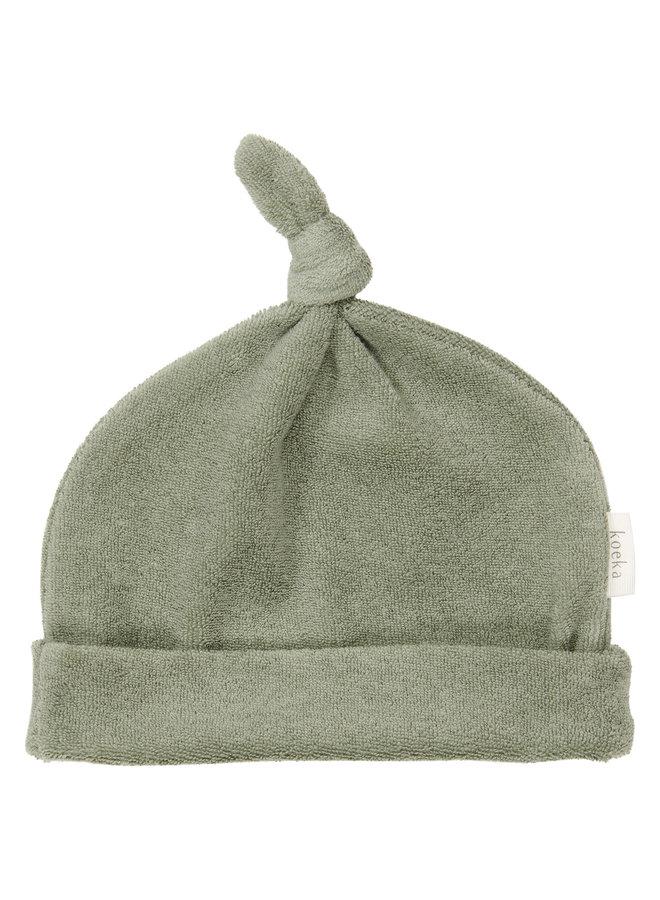 Koeka - Baby mutsje - Royan - Shadow Green