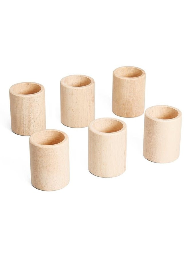 16-160 6 cups natural wood (divisble pack) / wooden toys