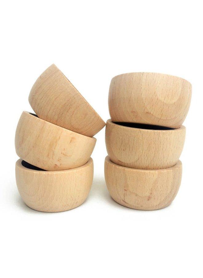 17-175 6x bowls natural wood/wooden toys