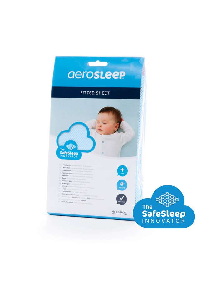 Aerosleep - SafeSleep Hoeslaken - 120x60 - Steel Blue