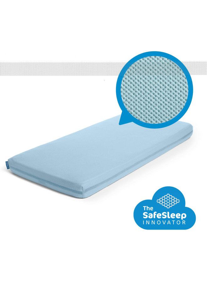Aerosleep - SafeSleep Hoeslaken - 140x70 - Steel Blue