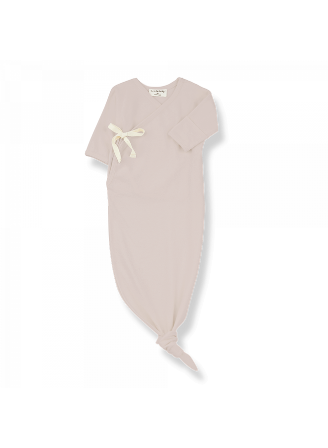 1+ in the family - Organic Plain Jersey Clothilde - Nude