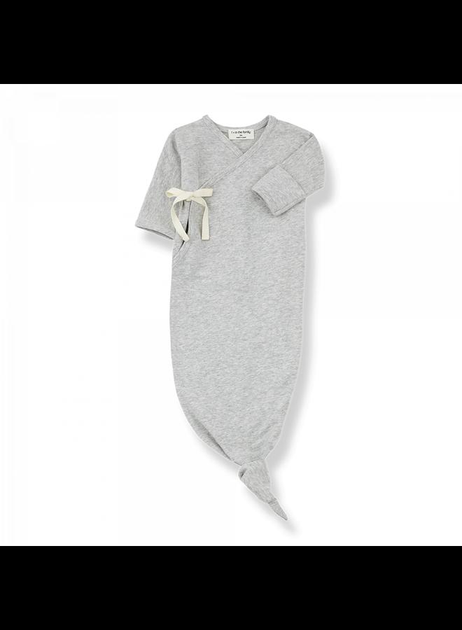Organic Plain Jersey Clothilde - Grey