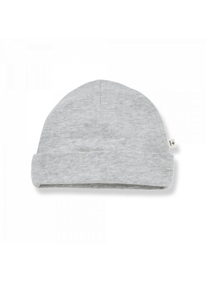 1+ in the family - Organic Plain Jersey Clothilde - Grey