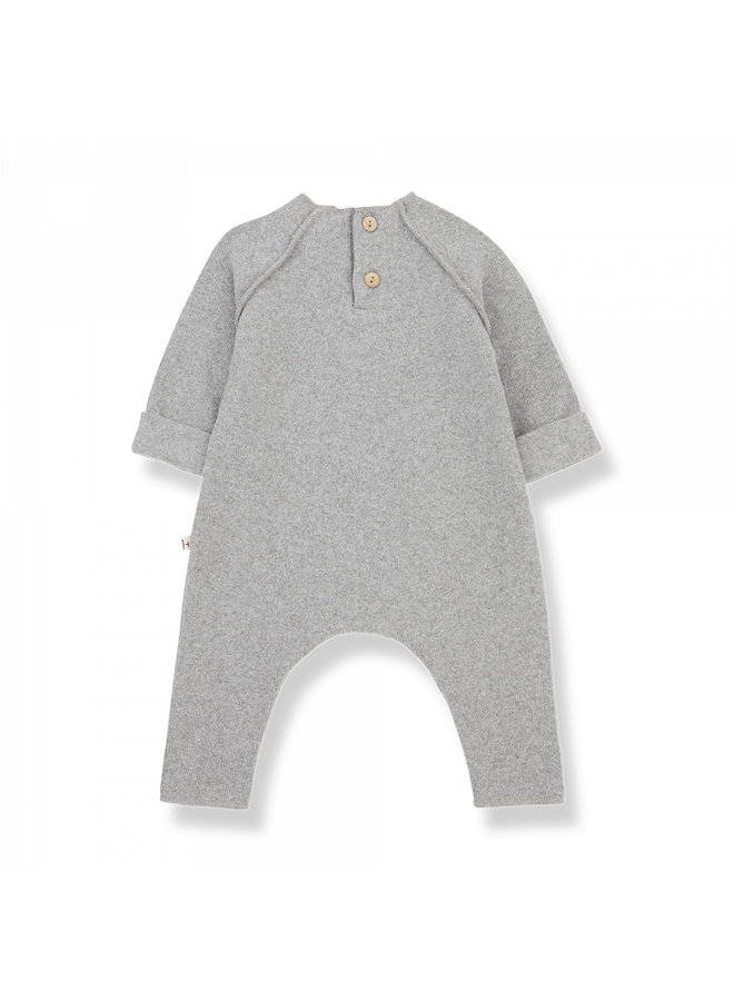 1+ in the family - Recycled Extra Soft Fleece - Moise - Grey
