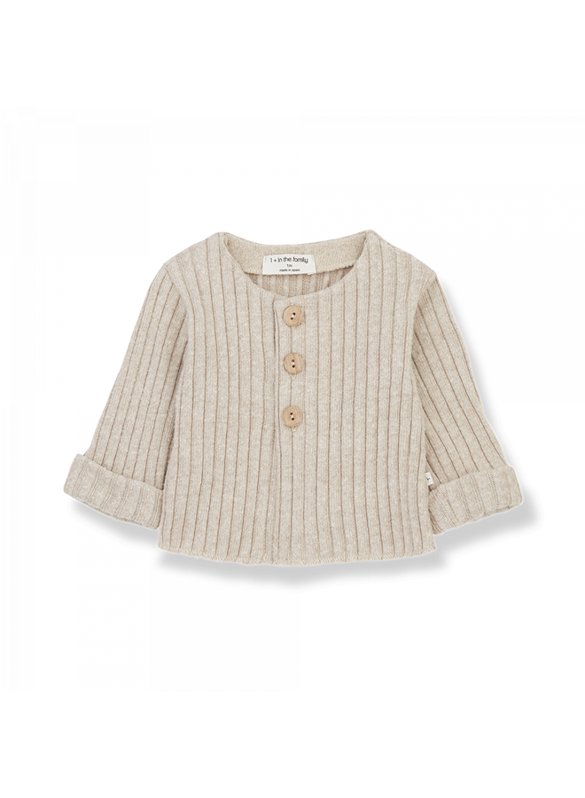 1+ in the family - Recycled Rib Fleece Violette - Cream