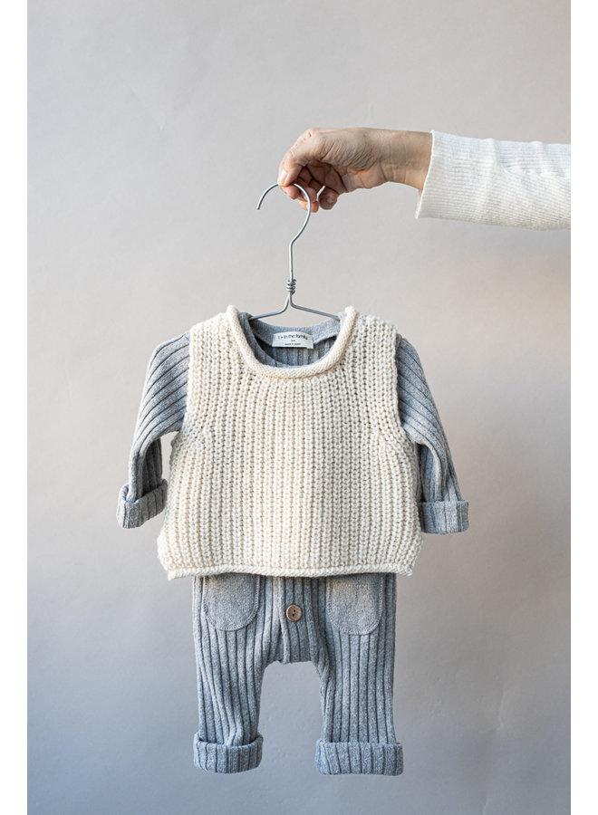 1+ in the family - Newborn Knit Gabriel - Ecru