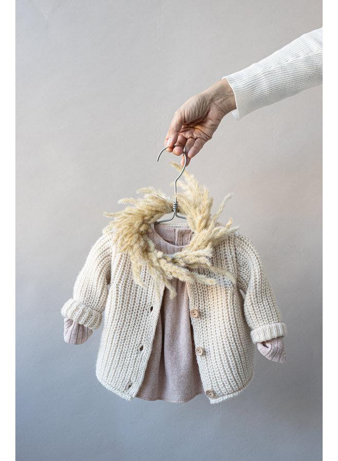 1+ in the family - Newborn Knit Rea - Ecru