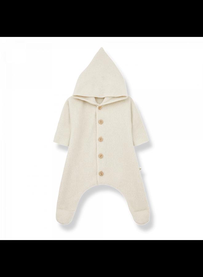 Cotton Bamboo Polar Fleece Beate - Ecru