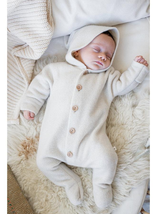1+ in the family - Cotton Bamboo Polar Fleece Beate - Ecru