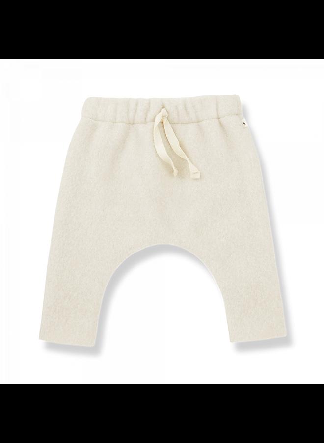 1+ in the family - Cotton Bamboo Polar Fleece Salvi - Ecru