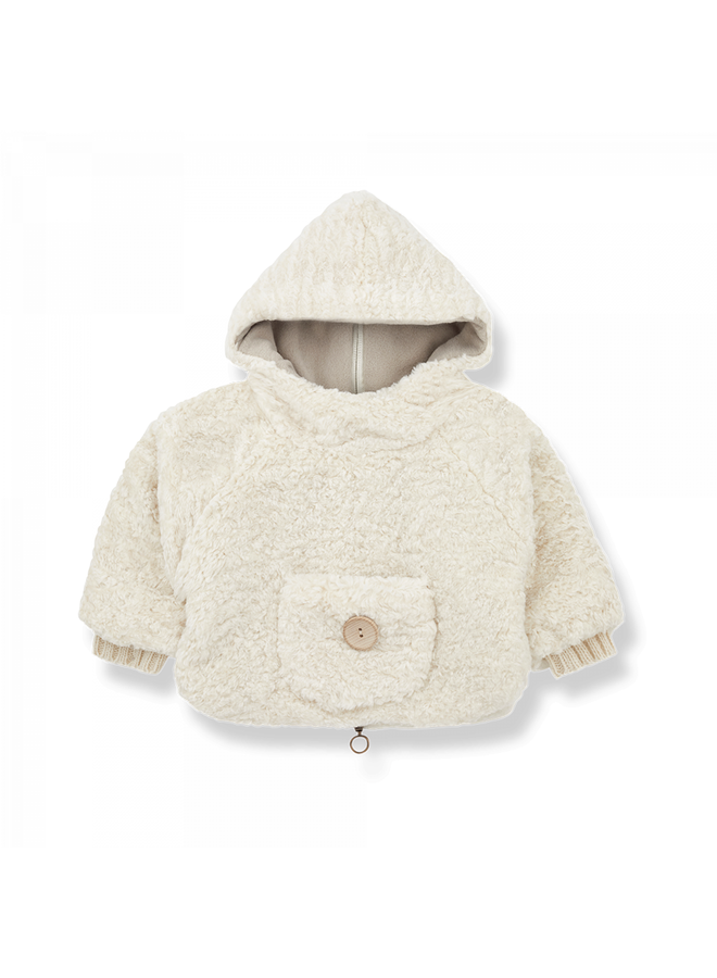 1+ in the family - Newborn Furry Emile - Ecru