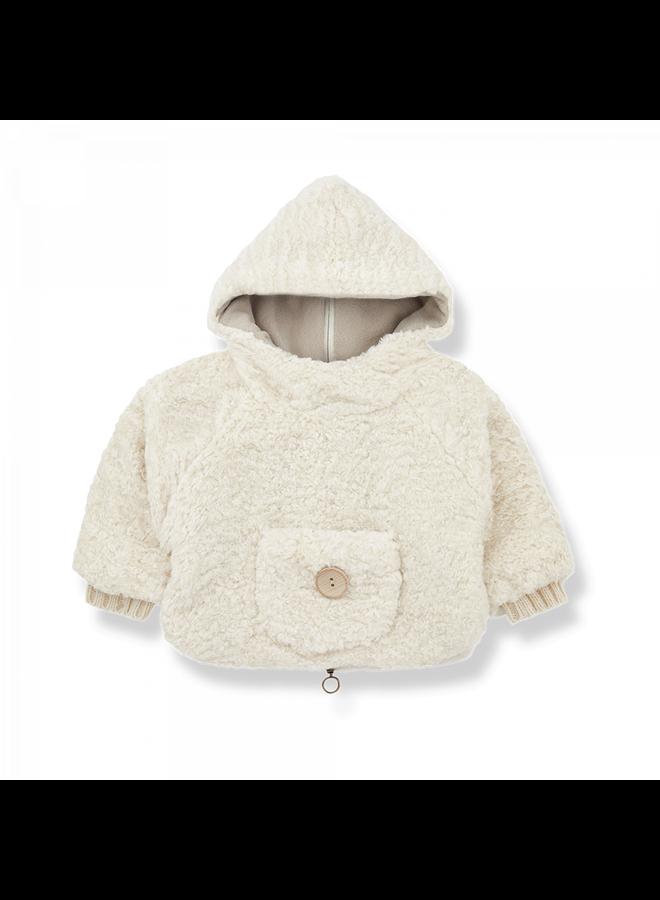 Newborn Furry Emile - Ecru
