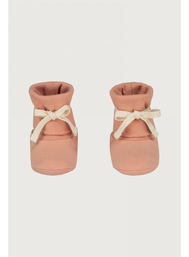 Baby Ribbed Booties - Rustic Clay