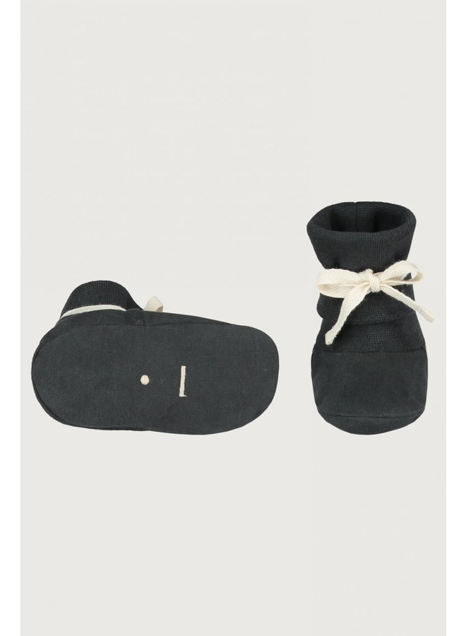 Baby Ribbed Booties - Nearly Black