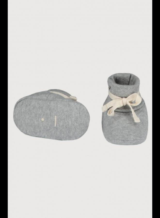Gray Label - Baby Ribbed Booties - Grey Melange
