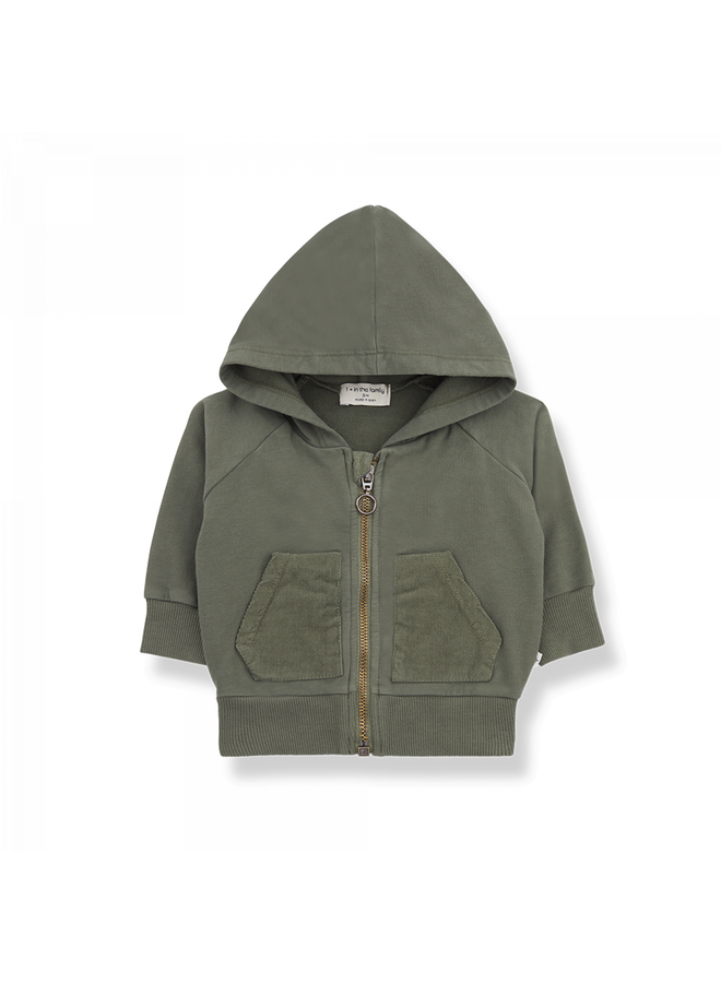 1+ in the family - Grinded Fleece Quinn - Olive