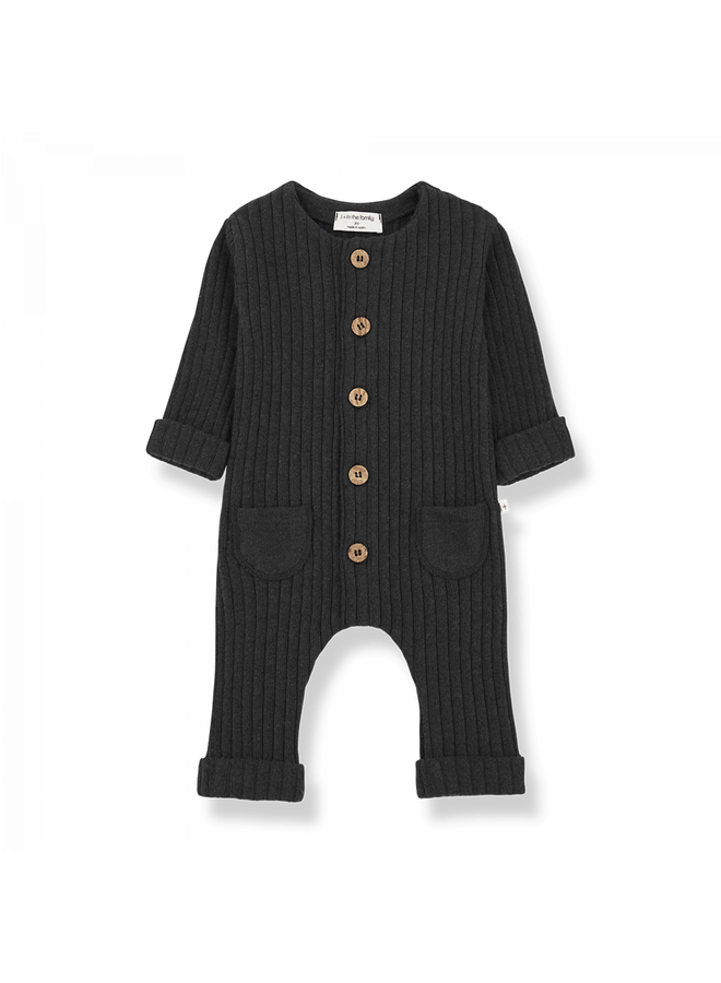 1+ in the family - Recycled Rib Fleece Alain - Charcoal