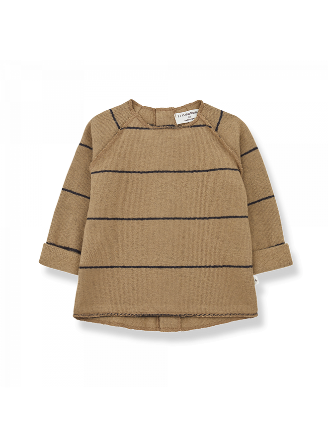 1+ in the family - Recycled Rib Fleece Gaspard - Brandy