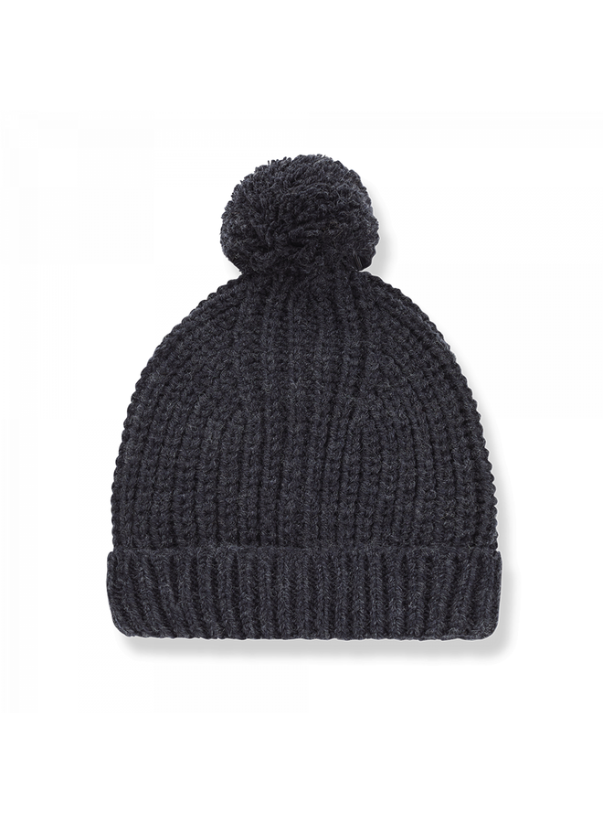 One Color Knit Kai - Charcoal
