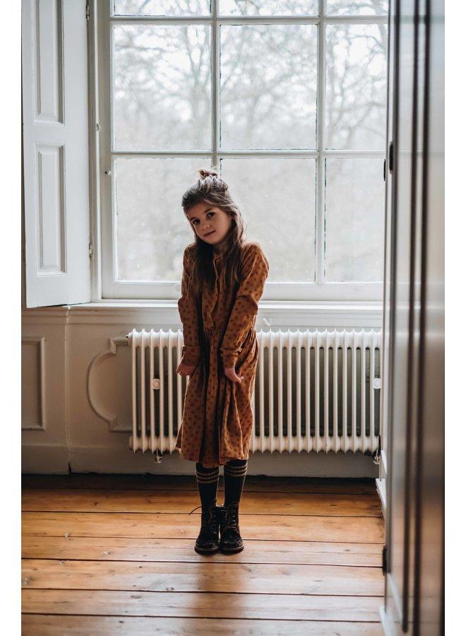 Blossom Kids - Long Sleeve Woven Dress - Winter Flower