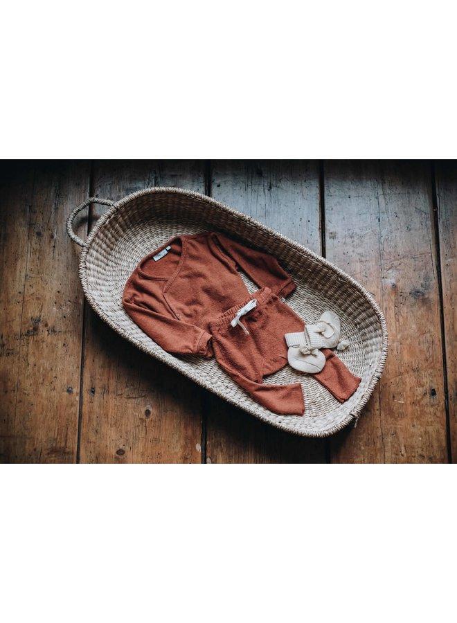 Blossom Kids - Teddy Baby Pants - Deep Coral