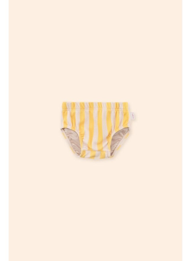 Big Stripes Bloomer - Yellow Light Cream