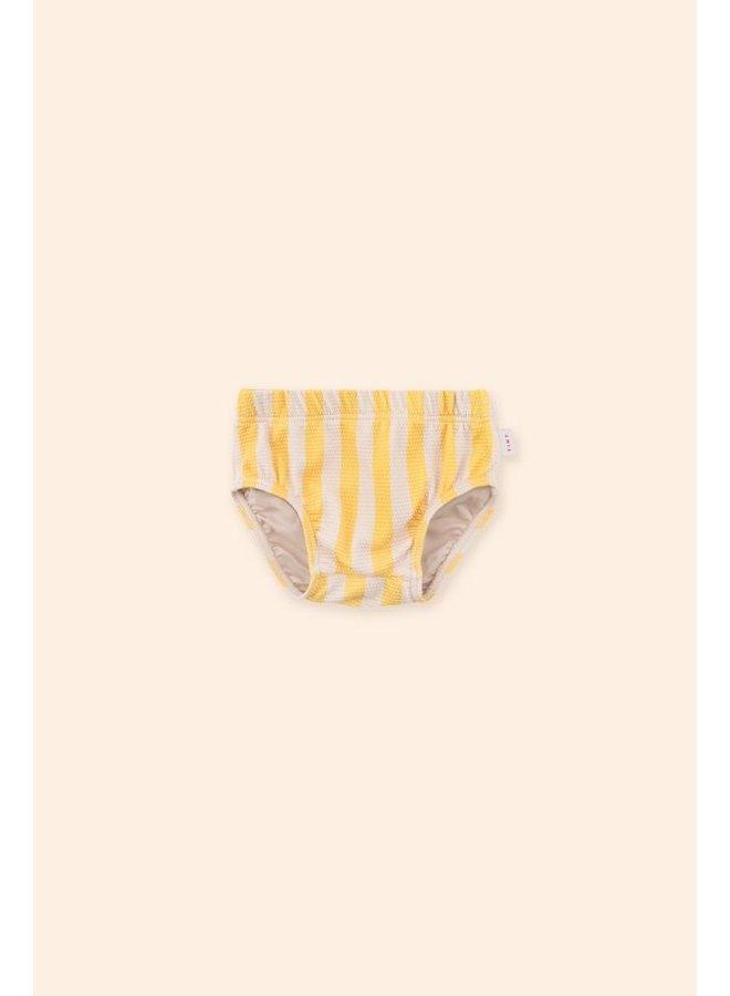 Tiny Cottons - Big Stripes Bloomer - Yellow Light Cream