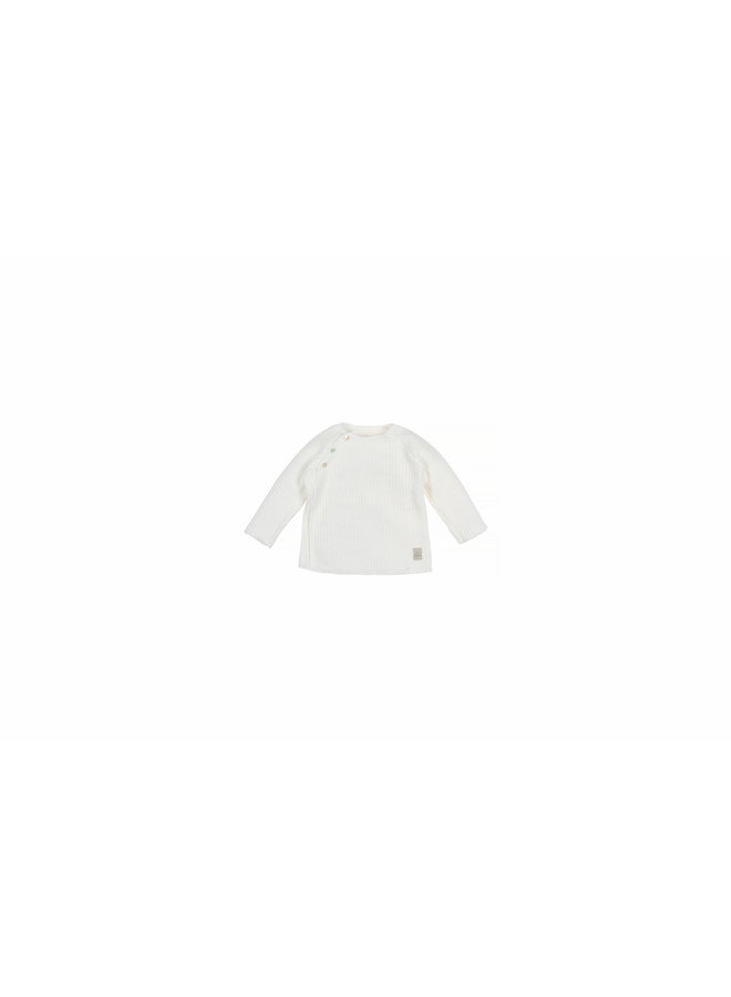 Baby Knit Rib Top - Offwhite