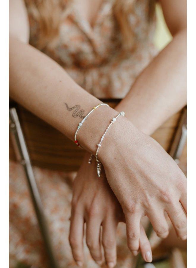 Le Veer - Beige Flair - Bracelet - Silver