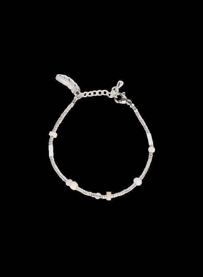 Beige Flair - Bracelet - Silver