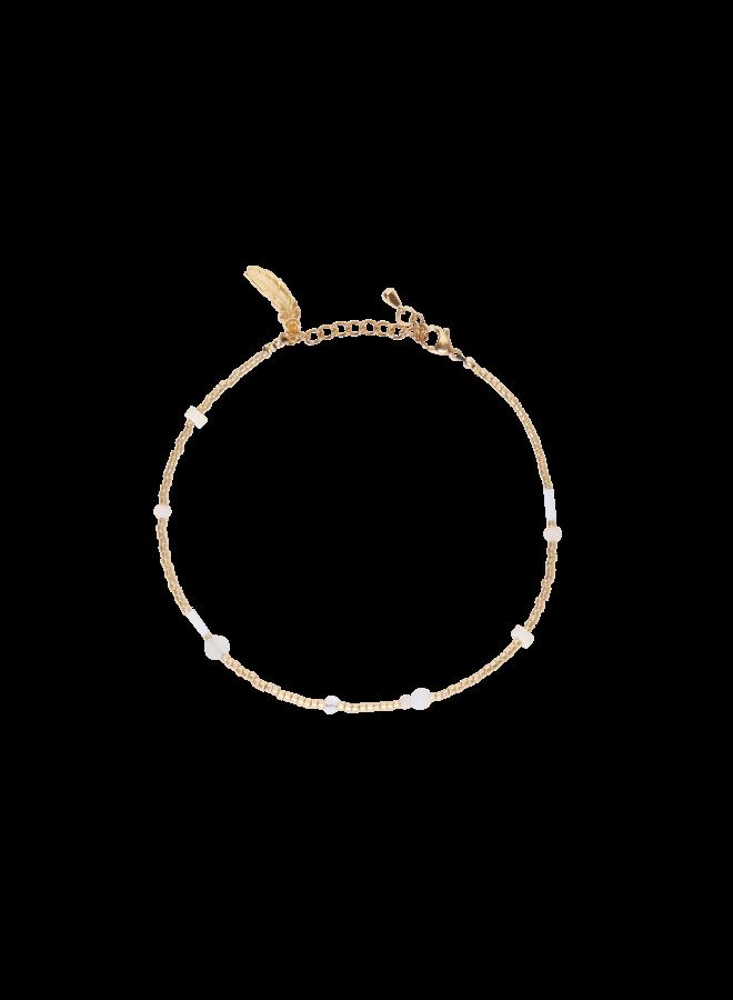 Beige Flair - Anklet - Gold