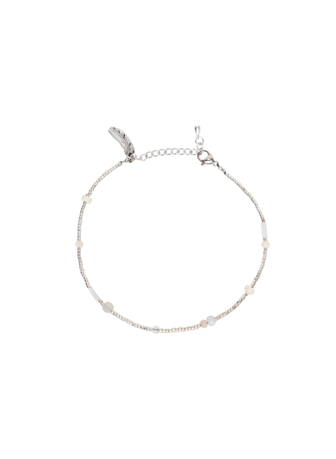 Beige Flair - Anklet - Silver