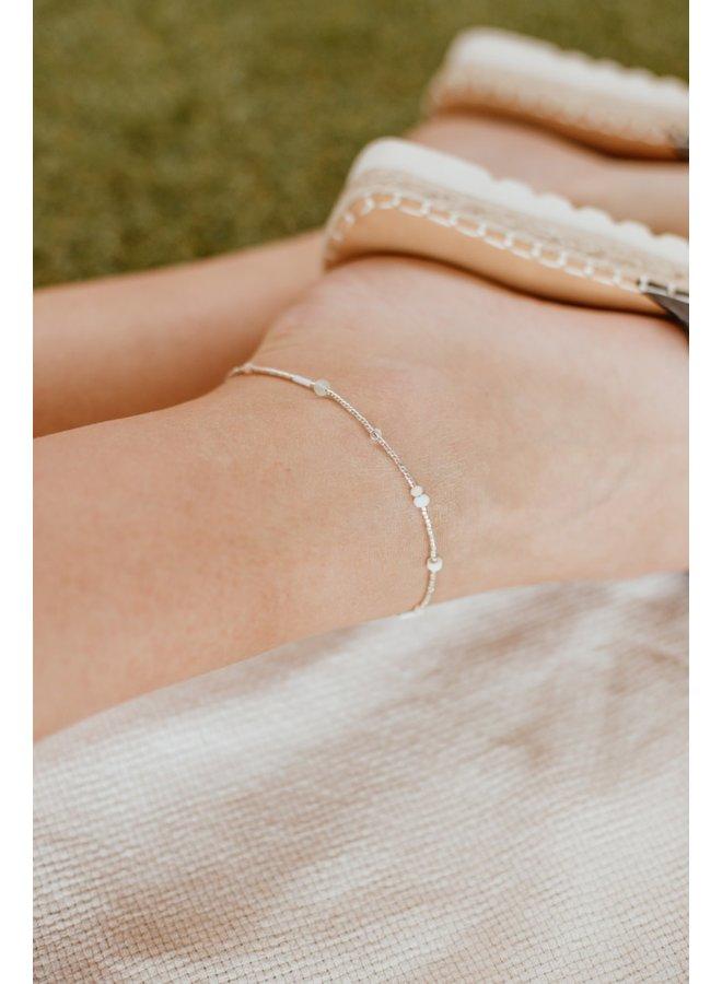 Le Veer - Beige Flair - Anklet - Silver