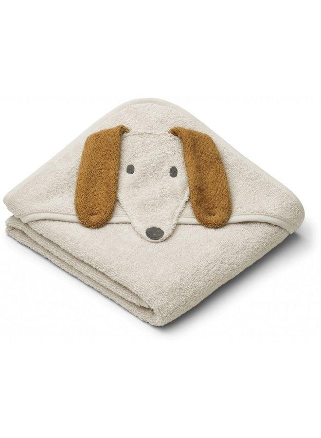 Albert Hooded Towel - Dog Sandy