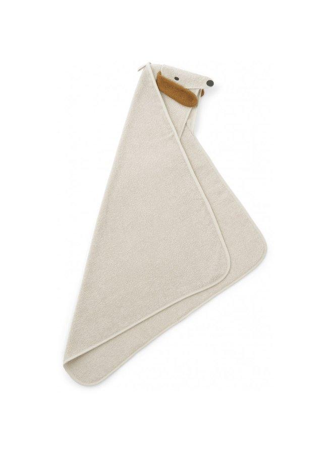 Liewood - Albert Hooded Towel - Dog Sandy