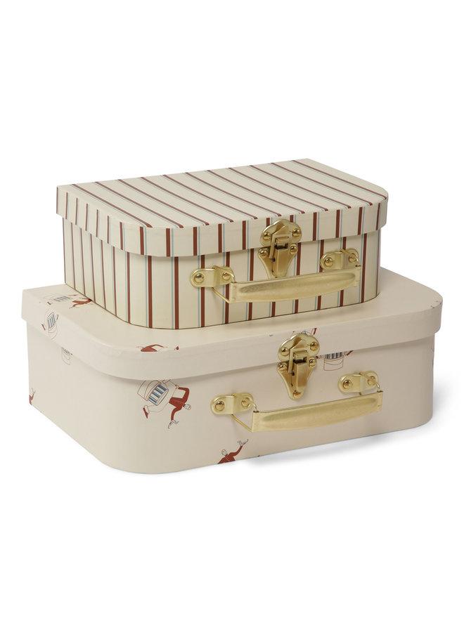 2 Pack Luggage - Bell Boy/Vintage Stipe