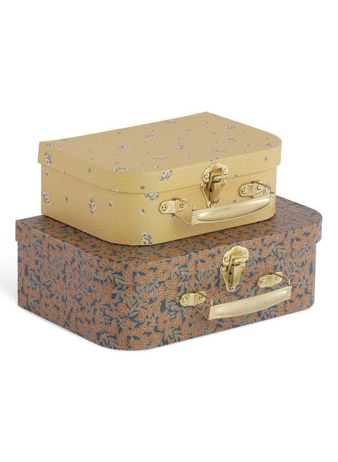 2 Pack Luggage - Winter Leaves/Flower Bouquet Mustard