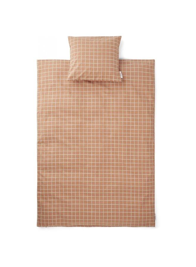 Liewood - Carl Adult Bedding Print - Check/Tuscany Rose