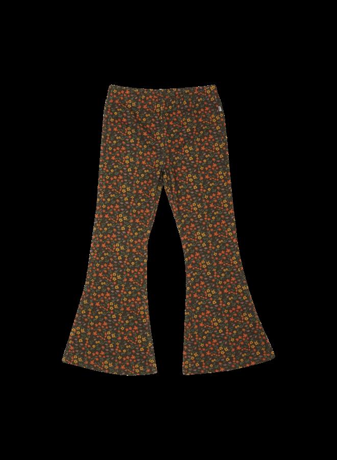 Flared Trousers - Flower Field