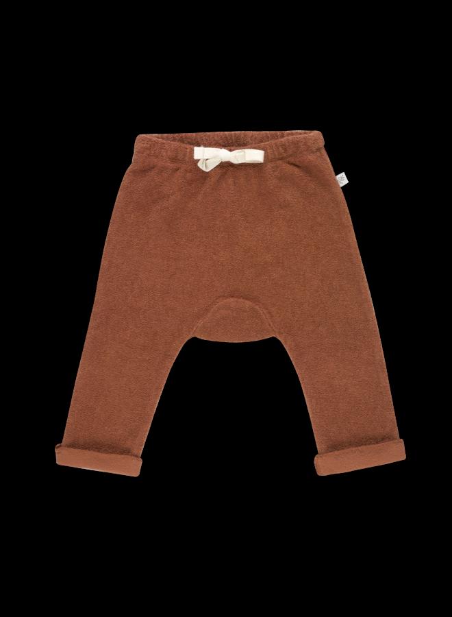 Teddy Baby Pants - Deep Coral