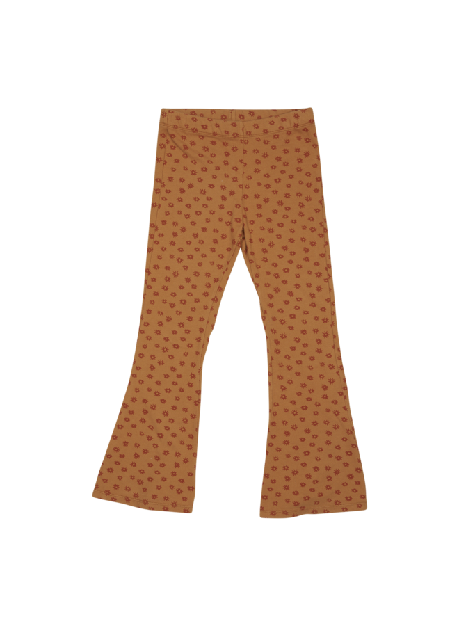 Flared Trousers - Winter Flower