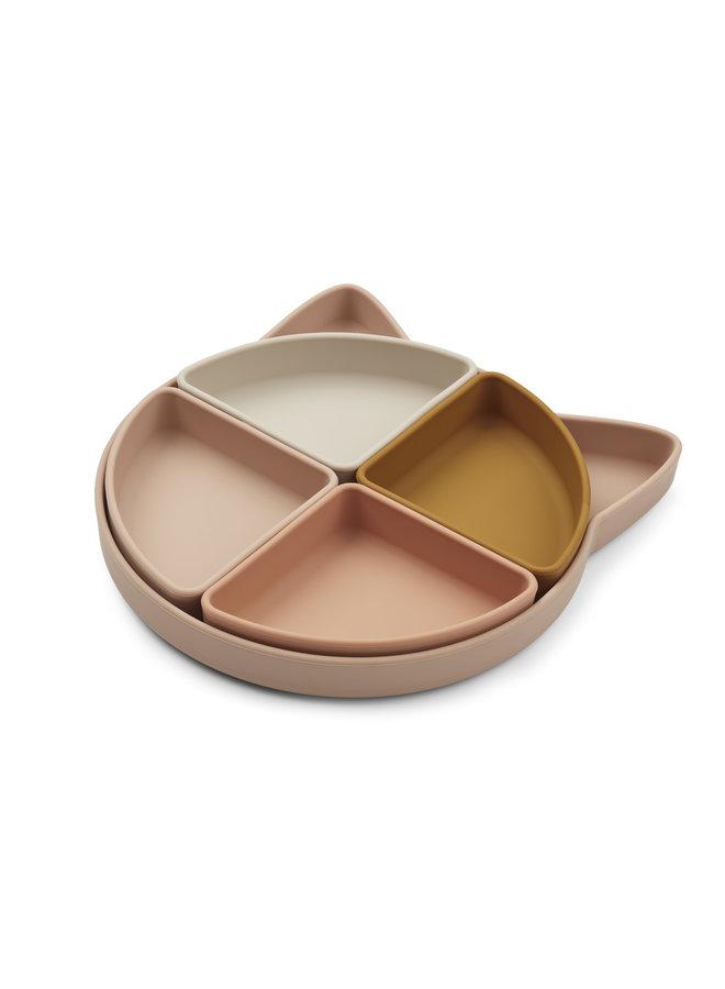 Arne Divider Plate - Cat Rose Multi Mix