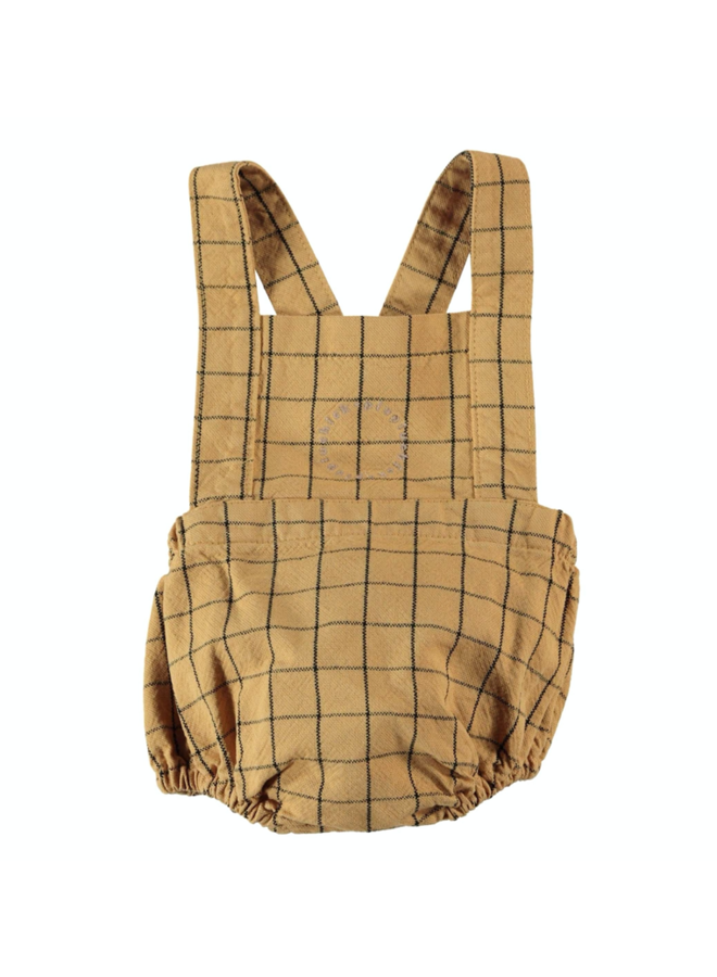Baby Bloomers w/ Straps - Camel Checkered