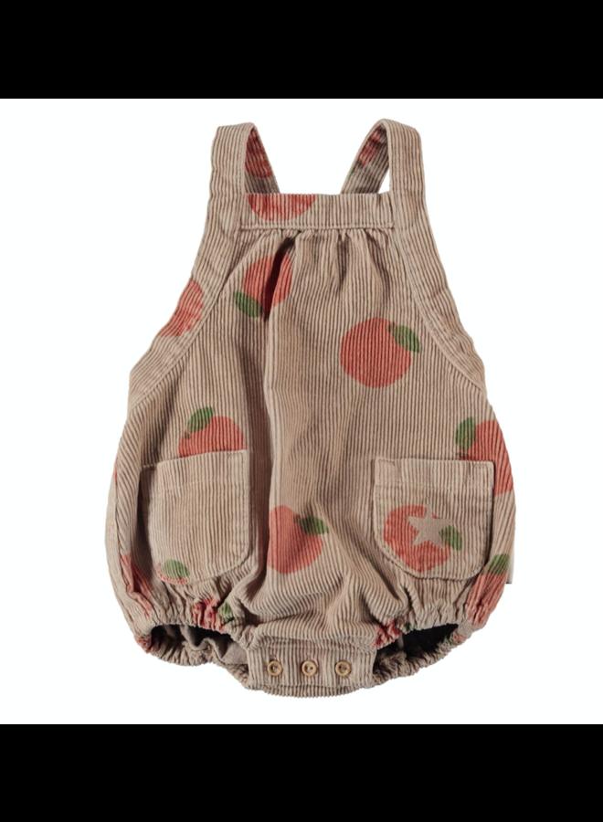 Piupiuchick  - Baby Romper - Light Brown Peach Allower